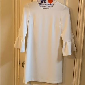 Club Monaco white bell sleeve dress